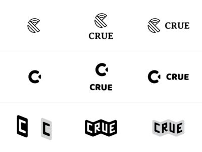 Crue Logo Concepts black  white branding logo design branding design concept logo design logo
