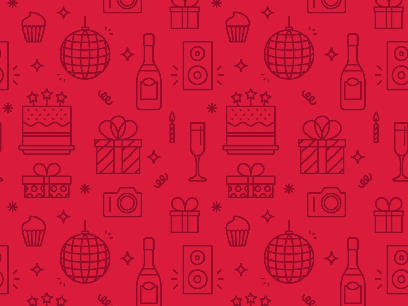 Birthday party by Génesis Linares   Dribbble   Dribbble