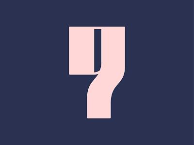 Nine illustration pink blue 9 nine type typography number illustrator 36 days of type