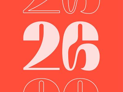 26 pink red 26 twenty six type typography number illustrator 36 days of type