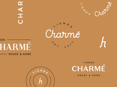 Charmé mark proposal unused emblem decor store home house charmé typography identity design branding brand wordmark logotype logo