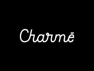 Charmé charmé typography design identity branding brand wordmark logotype logo