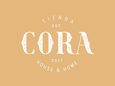 Cora design texture typography graphicdesign work mark logo branding brand cora home house