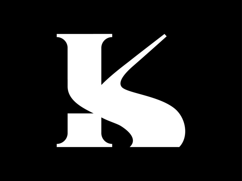 K lettering black type k letter letter k vector design flat typography illustrator 36 days of type