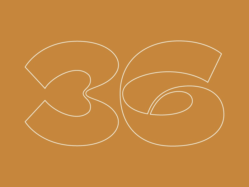36 days typography golden line flat number type design vector illustrator 36 days of type