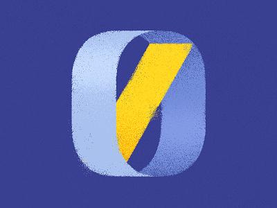 Zero 0 zero blue vector number type design texture flat typography illustration illustrator 36 days of type