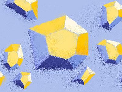 D is for gemstones gemstone vector blue type design texture flat typography illustrator illustration 36 days of type