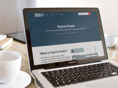 Hybrid Radio radio hybrid flat illustration animation blue website homepage