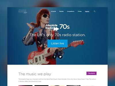 Station homepage templates homepage stations music radio landingpage branding ui