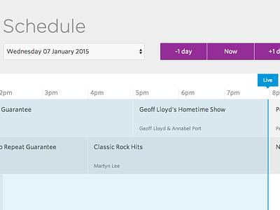Network schedule web app web schedule epg ui