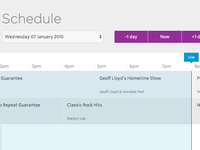 Network schedule web app