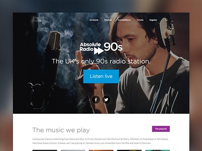 Station homepage templates homepage radio music 60s 90s