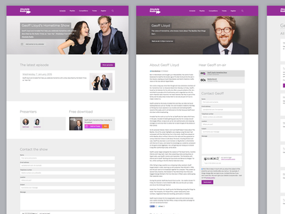 Show, presenter and episode templates template layout purple music radio