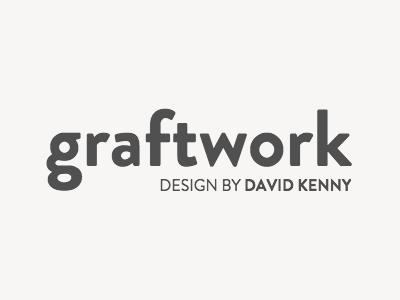 graftwork mono holding brandon grotesque splash page logo