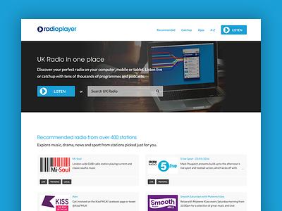 Radioplayer home page ondemand listen search blue music radioplayer radio