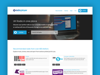 Radioplayer home page