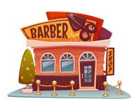 Barber shop building