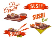 Sushi banners