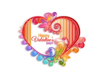 Quilling paper Valentine heart