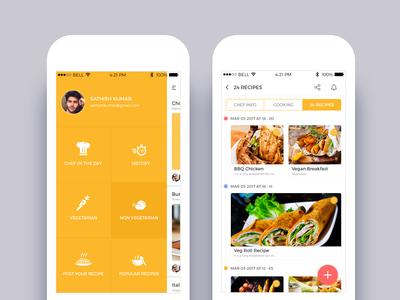 Cookbook App Interface