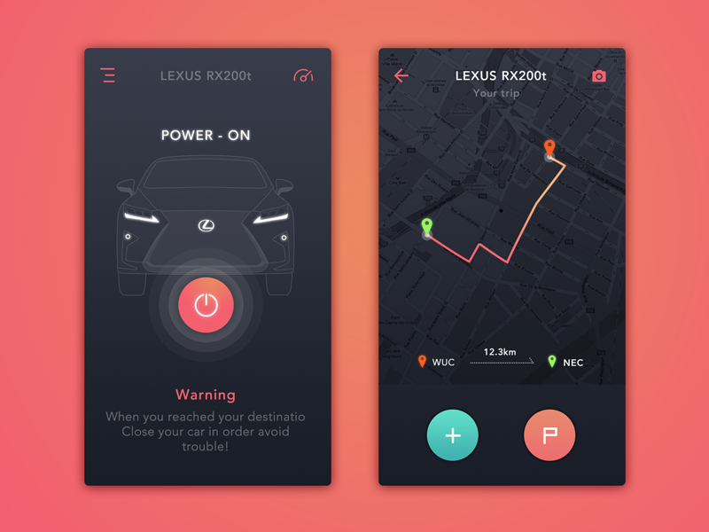#Car Control#Daily UI ui lexus car