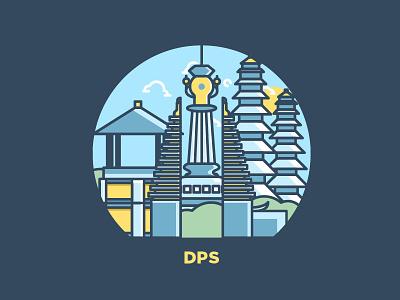 Bali (DPS) tourism skyscraper building icon indonesia bali