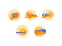 Icon Set - Online Travel Agent