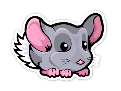 Chinchilla Studios cute chinchilla logo illustration character