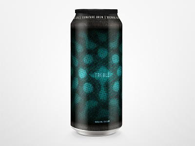 Treble packaging label design beer