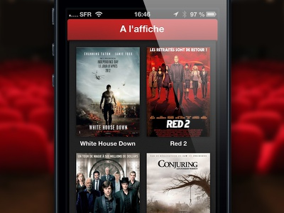 CinéHub iPhone app cinehub movies showtimes prototype concept ios app iphone