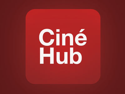 CinéHub logo iphone ios app concept prototype showtimes movies cinehub