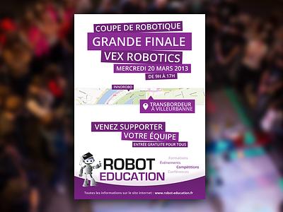 VEX Robotics French Finals poster vex robotics print poster design photoshop hi-dpi