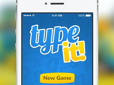 TypeIt type it typeit ios game wordgame word dictionary