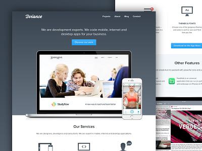 Dviance agency website ux design dev