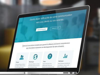 Landing page for Diartis ux design