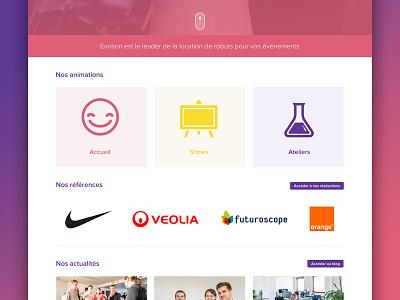 New website for Evotion ux design dev
