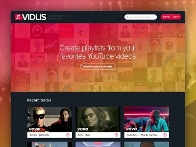 Vidlis website redesign ux design