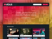 Vidlis website redesign