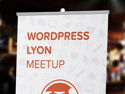 Roll-up for WordPress Lyon Meetup design
