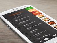 Food Finder App UI – Navigation
