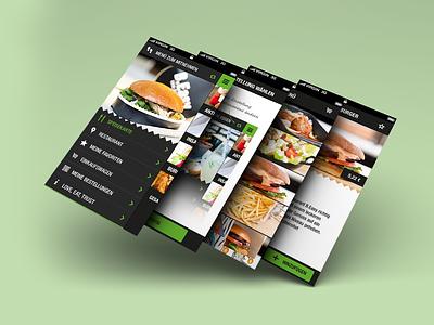 B.Easy iPhone App: Flat Interface Design navigation ui app iphone flat mobile ux interface ios food ordering restaurant