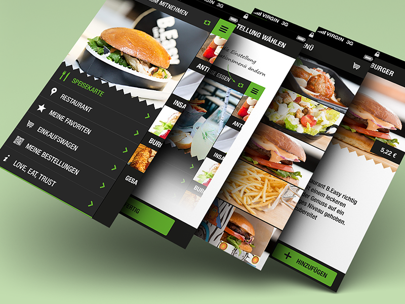 B easy iphone app flat interface design by christian