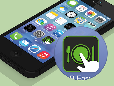 B.Easy iPhone App: Flat App Icon
