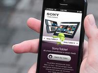 Sony Tablet Mobile Website