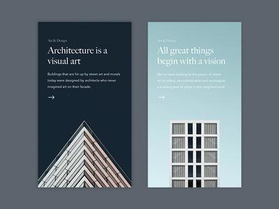 Article Cards minimal sketch ux design mobile app ui city street architecture