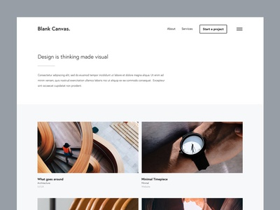 Blank Canvas uidesign uiux template uxdesign portfolio webdesign