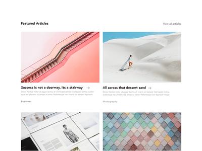 Blog Layout Design layout wireframe minimal ux design photography web design ui design uiux article cards blog website