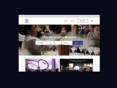 The Science Museum minimal search photography responsive uidesign uiux uxdesign portfolio webdesign