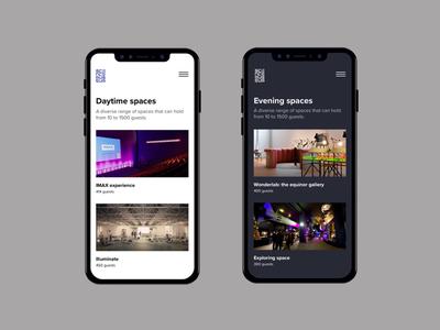Day and Evening Features website responsive darkui iphonex ios mobile userinterface uidesign uiux uxdesign portfolio webdesign