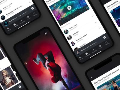 Radio App website responsive darkui iphonex ios mobile userinterface uidesign uiux uxdesign portfolio webdesign